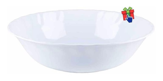 Ensaladera Melamina 25cm Set X 6 Blanca Plástica Bowl