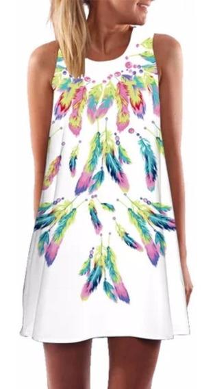 Vestido Estampado Textura Casual Moda