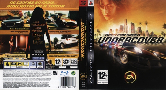 Need For Speed Undercover Para Ps3, Americano Jogo Cd Fisico