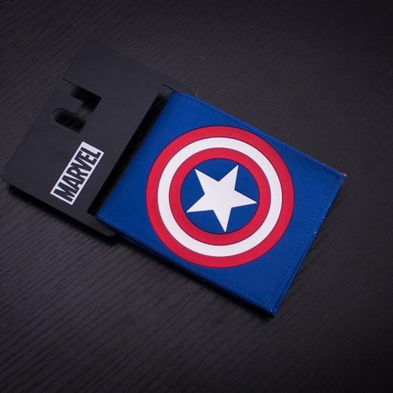 Carteira Capitao America Vingadores Marvel Original Novo