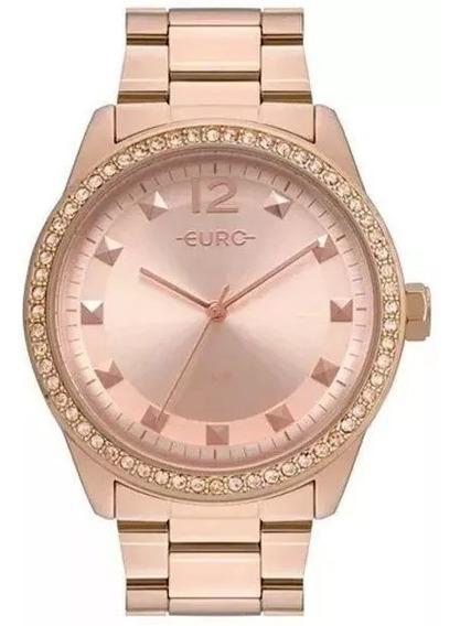 Relógio Euro Feminino Rosê Eu2035yrm/4j Original Barato