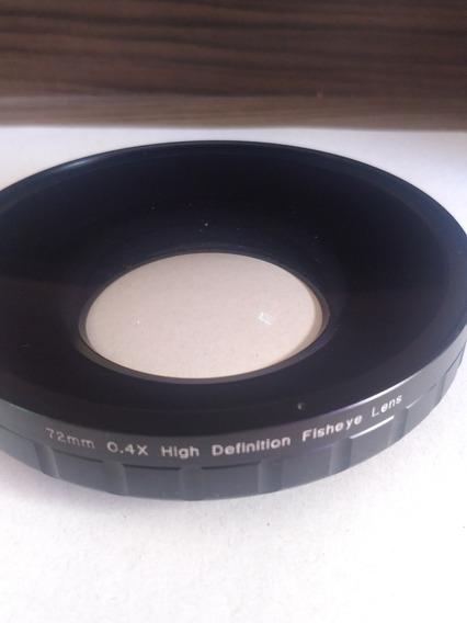 Lente Grande Angular Opteka 72mm Olho De Peixe Sony Z7 Z5