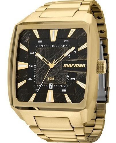 Relógio Mormaii Masculino Dourado Quadrado On The Road