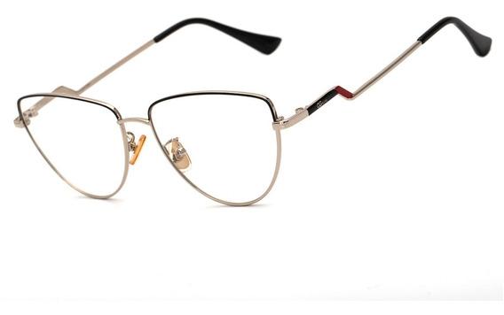 Armação Oculos Ogrife Og 1812-c Feminino Com Lente Sem Grau