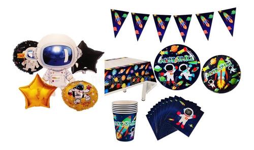 Kit De Decoración Fiesta Astronauta Nave Espacial Cumpleaños