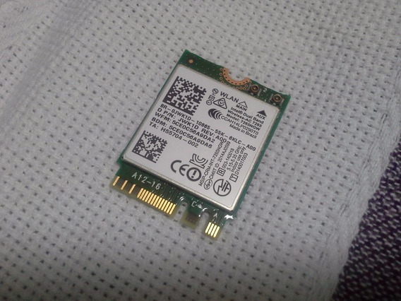 Placa Intel Wireless 7265 Dual Band, Bluetooth Dell