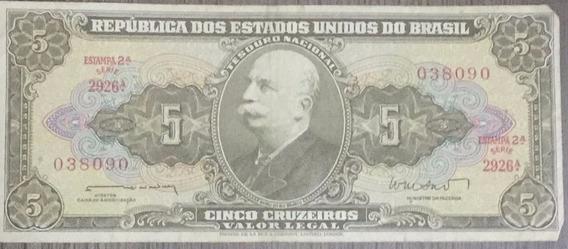 5 Cruzeiros - República Us Do Brasil - Bom Estado