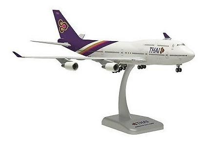 Miniatura Do Boeing 747-400 Da Thai Em Escala 1/200