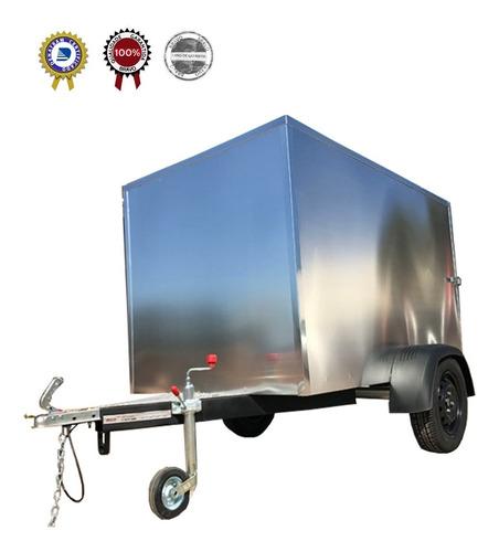 Carreta Reboque Baú 1,18 Alumínio Externo Madeira Interno