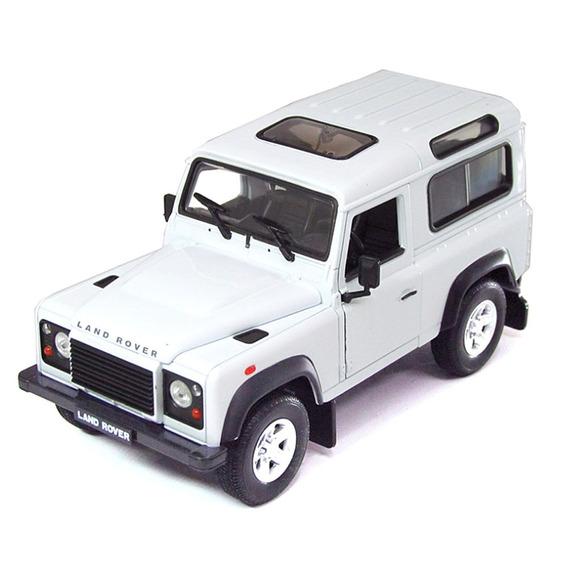 Miniatura Land Rover Defender Branco Welly 1/24