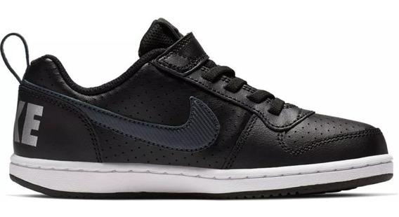 Tenis Nike Court Borough Low Ep Niños Negro Bv0746 001