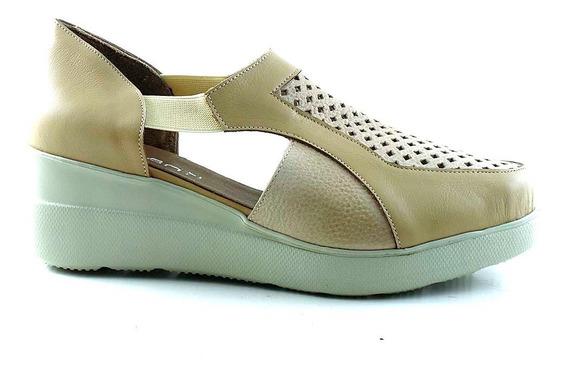 Zapatilla Mujer Cuero Briganti Zapato Confort - Mczp05255 Vh