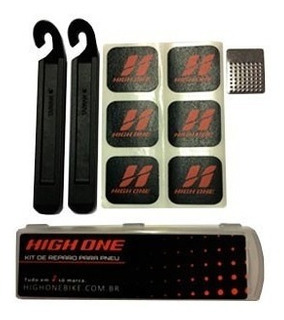 Kit De Reparo Para Pneu Remendo Cola Espátulas High One
