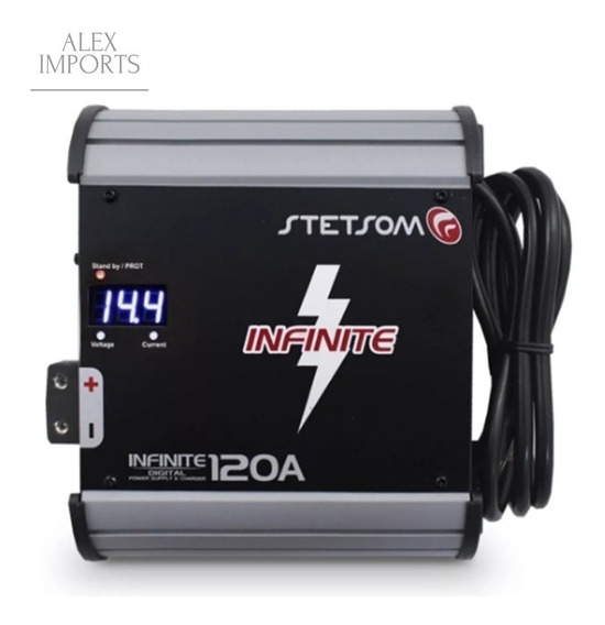 Fonte Automotiva Stetsom 120a 14.4 Bivolts Digital Cuiaba Mt