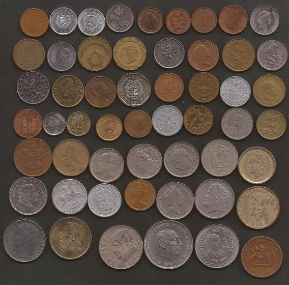 Oferta 55 Monedas De Distintos Paises Con Envio Incluido