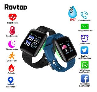Relógio Smartwatch Fitnes Medidor Cardíaco Pronta Entrega