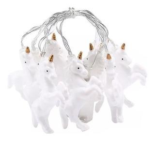 Tira Led Unicornios Blanco Cálido X 10 Luces A Pila 2 Metro