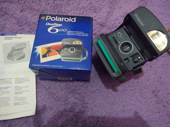 Antiga Máquina Fotográfica Polaroid Onde Step 600 Na Caixa