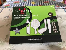 b44c04cea Kit De Esportes 3 Em 1 Para Nintendo Wii Integris - Acessórios de ...