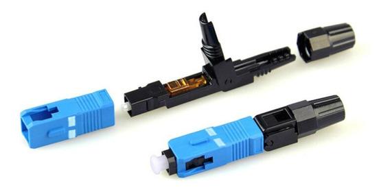 100 Conectores Fast Fibra Óptica 50 Sc/apc + 50 Sc/upc Kit