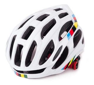 Capacete Ciclismo Mtb Bike Road Branco Tamanho 52-58