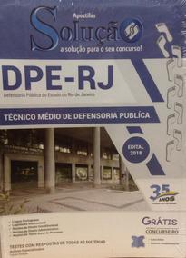 Apostila Dpe-rj - Técnico Médio De Defensoria Pública