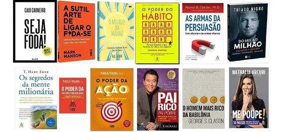 O Poder Do Hábito + Seja Foda! + Pai Rico + 9 Livros