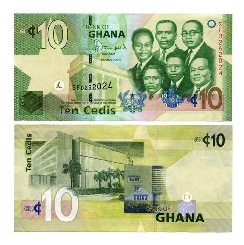 Billete De Ghana 10 Cedis 2013 Numismatic Collection
