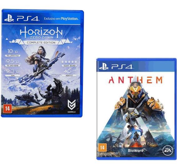 Combo Ps4 Jogos Anthem E Horizon Zero Dawn Midia Física