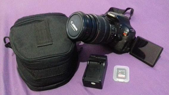 Canon T3i Com Lente 17-85mm Usm + Bolsa + Sd 16gb Desconto