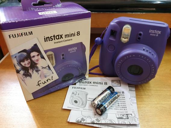 Câmera Instax Mini 8 Fujifilm Grape Uva Quasezero Sp