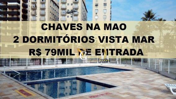 Apartamento À Venda, 80 M² Por R$ 79 Mil De Entrada Chaves Na Mão - Caiçara - Praia Grande/sp - Ap2369