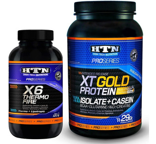 Quemador X6 Thermo Fire Y Proteina Tx Gold Htn 1 Kg Caseina
