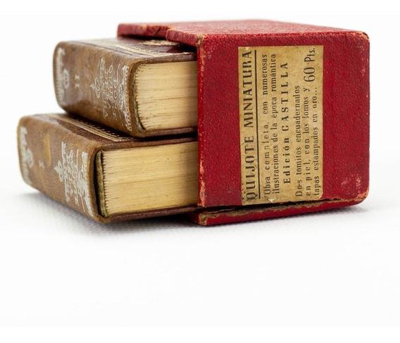 Livro De Colecionador - Dom Quixote Edição Miniatura 1952