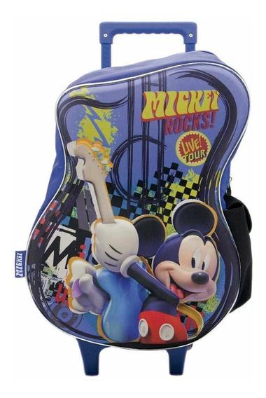 Mochila Mickey Con Carro Infantil De 6 A 11 Años 16 Pulgadas