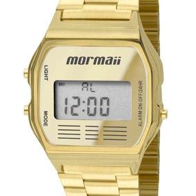 Relógio Mormaii Dourado Vintage Digital Feminino Mojh02ab/4d