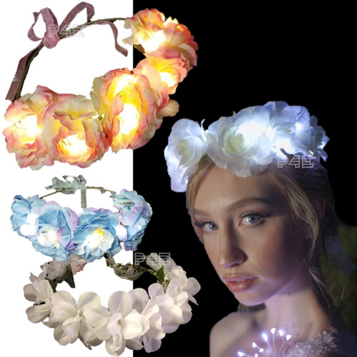Vincha Luminosa - Tiara Flores - Flowers!!