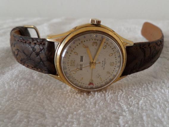 Reloj Alfa Vintage Cuerda Triple Candelario Con Detalle