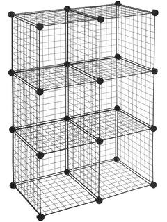 Cubos De Almacenamiento - Wire Storage Cubes - 6 Cubos