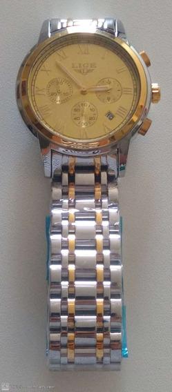 Relógio Lige Masculino De Luxo Barato Com Garantia + Brinde