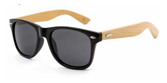 Óculos De Sol Masculino Madeira Bambu Uv400 Promocao