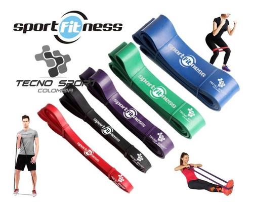 Kit 5 Pzs Banda Poder Elástica Sportfitness Tonificacion Gym