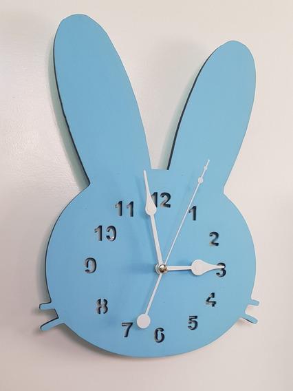 Reloj De Pared Niños Bebe, Decoracion Forma De Conejo