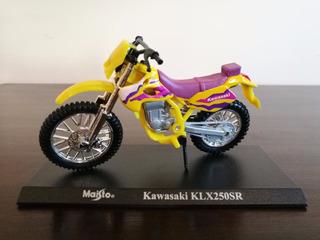 Miniatura Motocicleta Maisto Kawasaki Klx250sr 1:18