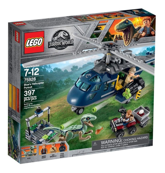 Lego Jurassic World Blue Helicopter Pursuit 75928