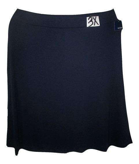 Falda Larga Azul Marino Talla 3x (42/44 Mex) Basic Edition