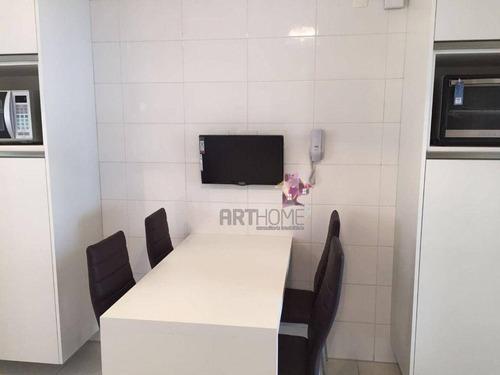 Imagem 1 de 10 de Apartamento Com 3 Dormitórios À Venda, 128 M² Por R$ 849.000,00 - Centro - Santo André/sp - Ap1648