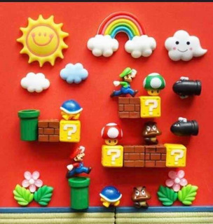Imanes Refrigerador Mario Bros 31 Piezas