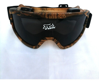 Goggles Tipo Fox Motociclista Camuflado Oscuro Bici Gafas Fz