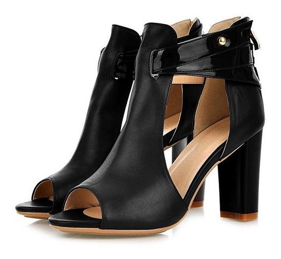 Zapatos Mujeres Asomar Dedo Del Pie Tacones Alto Sandalias B